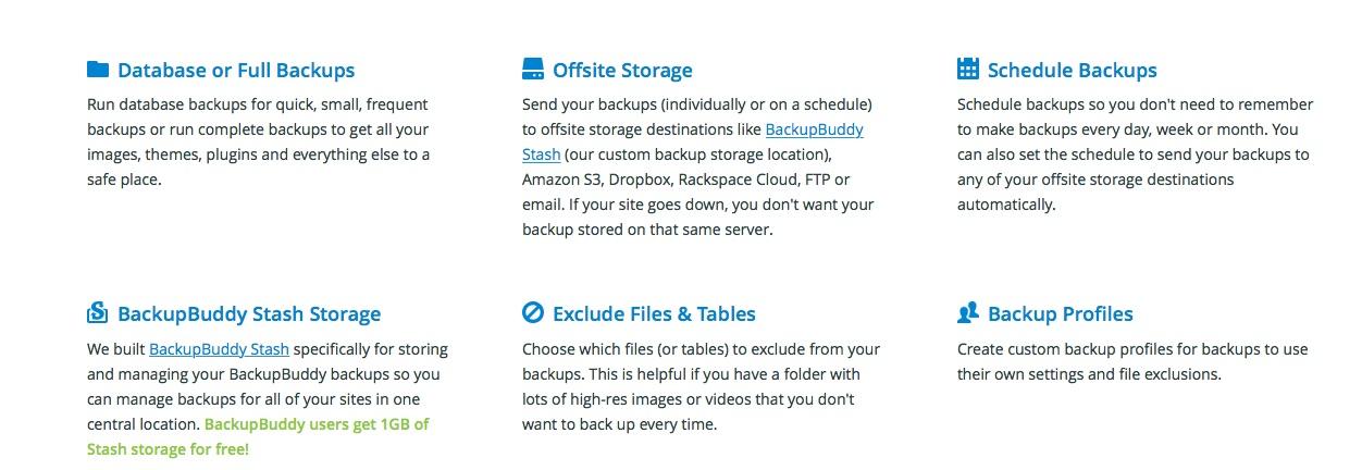 ListWP WordPress Business Directory BackupBuddy