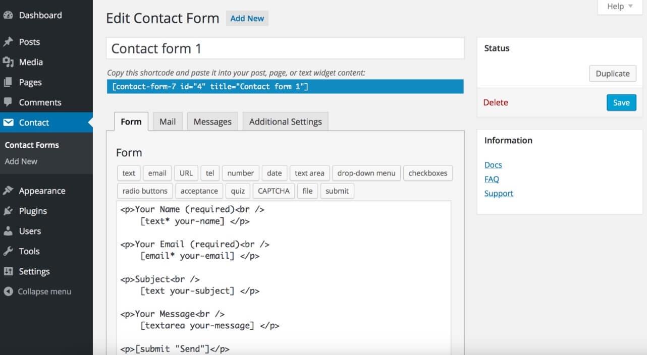 ListWP Business Directory Contactform7