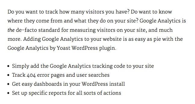 ListWP Business Directory Google Analytics by Yoast
