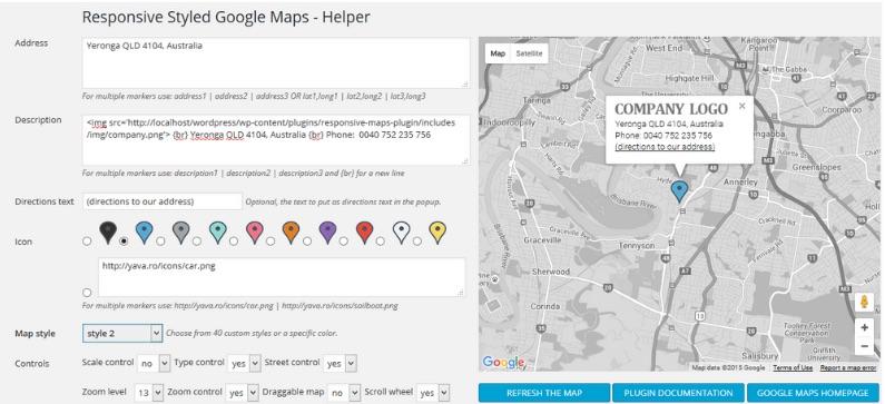 Responsive Google Maps ListWP Business Directory