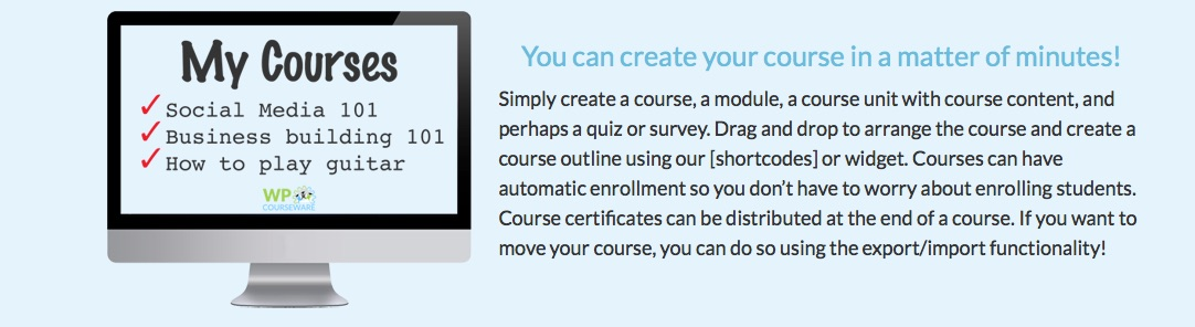 teaching courseware wordpress