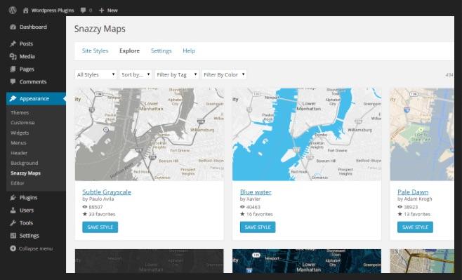 Snazzy Maps WordPress Plugin ListWP Business Directory